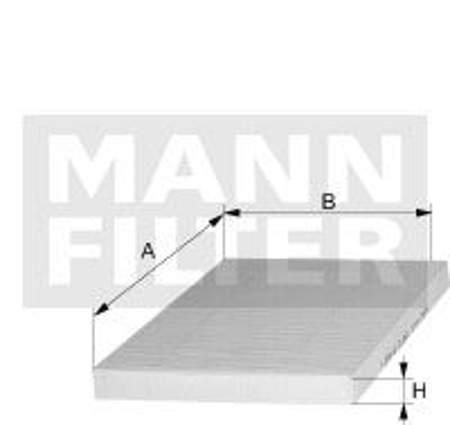 Filtr kabinowy MANN Volkswagen Lupo