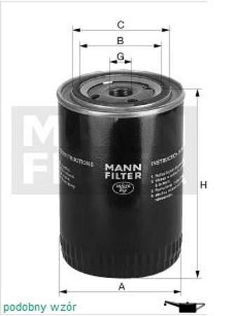Filtr oleju MANN Audi A3 1.8